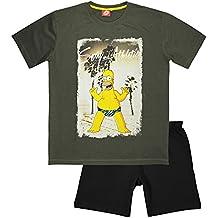The Simpsons - Pijama - para Hombre Gris Gris Large