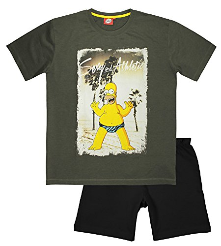 The Simpsons - Pijama - para Hombre Gris Gris Medium