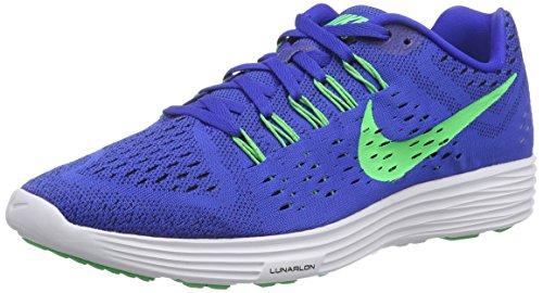 Nike Lunartrainer, Chaussures de Running Compétition Homme Blau (Lyon Blue/Poison Green-White-Black)