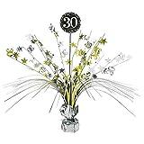 Amscan Tischdekoration zum 30.Geburtstag – Tischgesteck, 33cm, goldfarben, 110295
