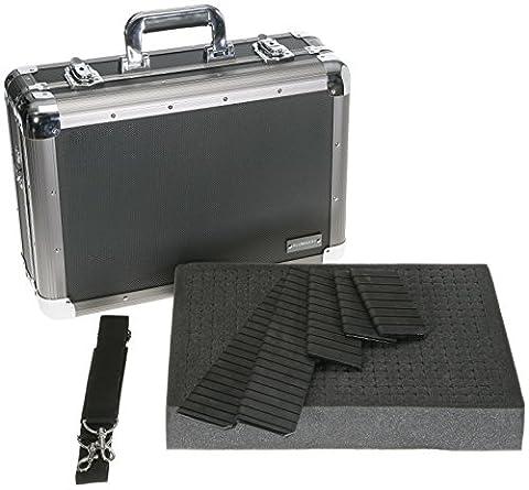 ALUMAXX Multifunktions-Koffer EXPLORER Fotokoffer mit Schaumstoffeinlage und Trennstegen Aluminium schwarz