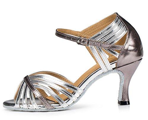 F&M Fashion , Salle de bal femme 7.5cm Silver