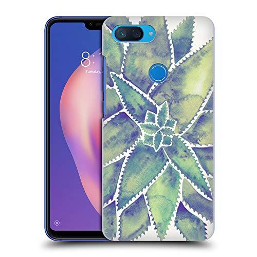 Head Case Designs Offizielle Cat Coquillette Aloe Vera Marmoriert Tropisch Harte Rueckseiten Huelle kompatibel mit Xiaomi Mi 8 Lite/Mi 8X