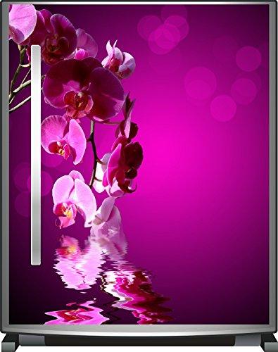 Wallario Kühlschrank-Aufkleber / Geschirrspüler-Aufkleber, selbstklebende Folie für Küchenschränke - 65 x 80 cm, Motiv: Rosafarbene Orchidee Blüten in pink