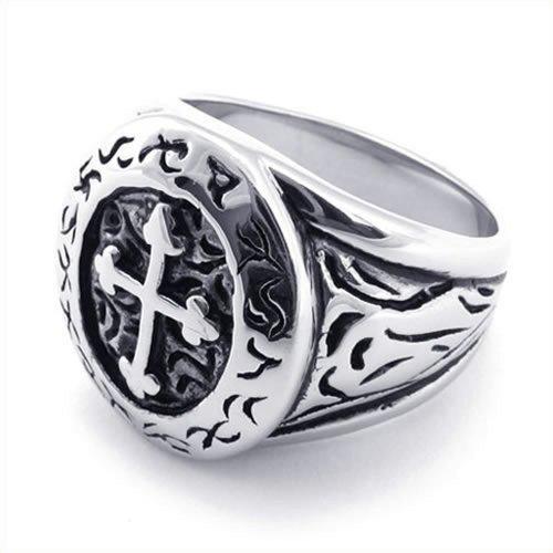 anello uomo croce