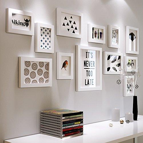 Preisvergleich Produktbild Bilderrahmen - kreative Foto Schwarz und Weiß aus Holz im europäischen Stil Wohnzimmer, Büro, die alle - Weiß