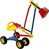 Kinderbagger Sitzbagger Sandkastenbagger Bagger 360 drehbar mit Kippschaufel und Rädern