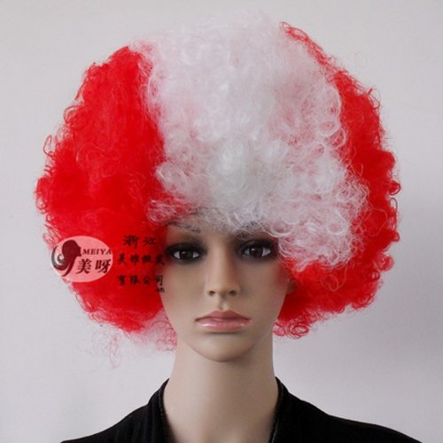 Canada Paese Football Fans Supporter Forniture Afro Wig Costume Cosplay