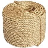 Sisal cuerda 6mm de diámetro, 100m Sisal cuerda, de la India, gatos cuerda natural Rascador de rocío, marca. Probado en m & g Techno® de calidad