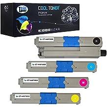 Cool Toner Compatible de Toner 44973536 44973535 44973534 44973533 para OKI C301 C301dn C321 C321dn,OKI MC332dn MC342dn MC342dnw MC342w MC342dw, Negro - 2200 páginas; Color - 1500 páginas