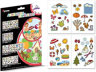 Pryse 1043003 - Gomets etiquetas adhesivas temáticas