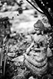 Buddha Garden Statue in Black and White Journal: Take Notes, Write Down Memories in this 150 Page Lined Journal