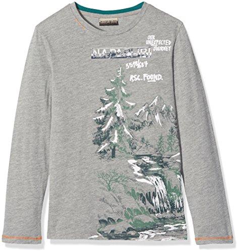 Napapijri K Sillo, Camiseta para Niños, Gris (Med Grey Mel 160), 164 (Talla del Fabricante: 14)