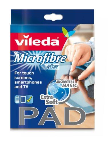 Vileda Microfaser Pad Tuch für besonders empfindliche Oberflächen, 2er Pack (2x1 Stück)