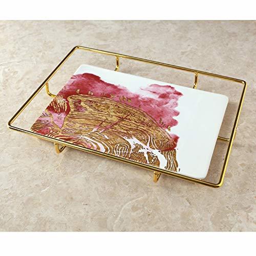 LWBUKK Keramik Ablageschale, Obstschale Tisch, Schmuck Aufbewahrungsbox Tablett (Color : B)
