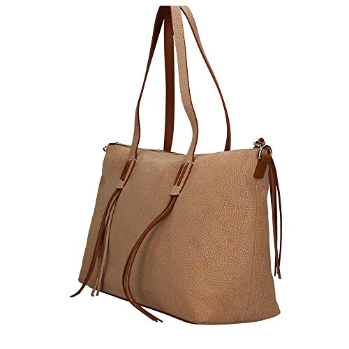 Borbonese 924793648 Shopping Bag Donna Cuoio