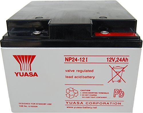 Batteria al piombo 12 V 24 Ah Yuasa NP24-12 NP24-12 Piombo-AGM L x A x P 166 x 125 x 175 mm Vite M5 Esent