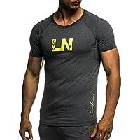 LEIF NELSON Gym Herren Fitness T-Shirt Trainingsshirt Training LN06282