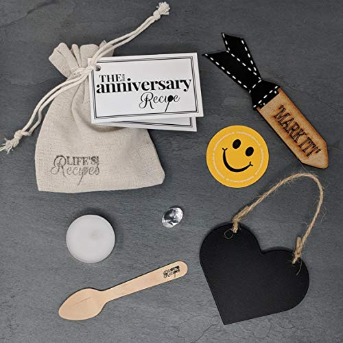 The Little Anniversary Recipe - A Thoughtful and Fun, Unique Gift or Token, to Recognise and Celebrate the Happy Couple.
