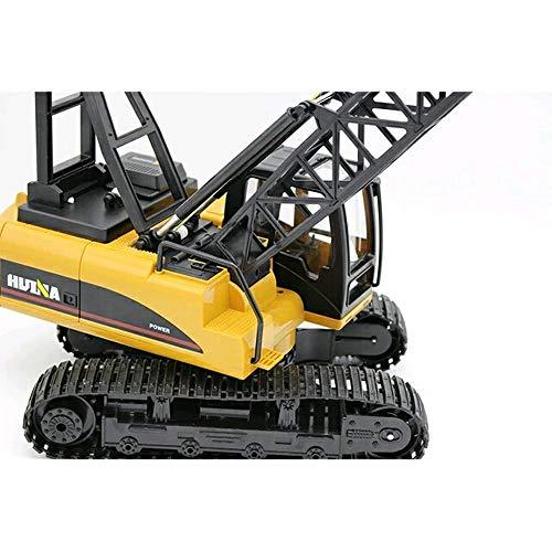 RC Auto kaufen Baufahrzeug Bild 6: s-idee® S1572 Rc Kranwagen Bagger mit Ketten Licht Sound Metallbauteile 15 Kanal 1:14 mit 2,4 GHz Kran Huina 1572*