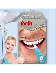 Symeas Natural Teeth Whitener System Tool Kit Pro Nano Teeth Whitening Kit Teeth Cleaning Kit Teeth Whitening Sponge Cleaning Stains Smoke Teeth Tools