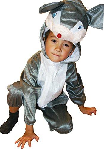 Fun Play Bambini costumi mouse costume animale Onesies - Costume animale per 3-5 anni