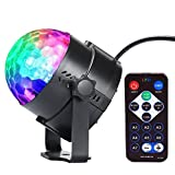 Disco Lichteffekte InnooLight LED Partylicht 7 Farbe RGB Beleuchtung Diskokugel DJ Lampe Ball für Party, Hochzeit, Weihnachten, Club, Bar, Bühne, Zimmer, Kindergeburtstag (mit Fernbedienung)