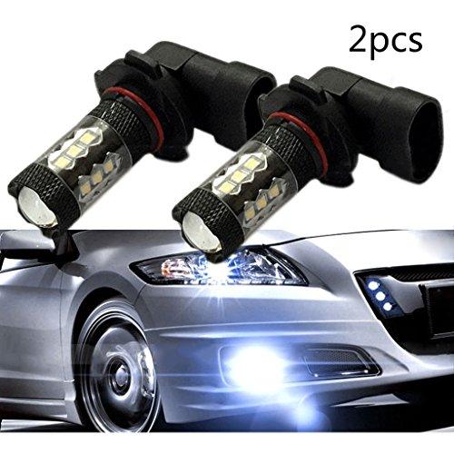 Preisvergleich Produktbild 2*Auto Aussenlampen H10 80W 12V 1200LMS 16CREE 7000K Weiss LED KFZ Standlicht Blinkerleuchten Autoscheinwerfer