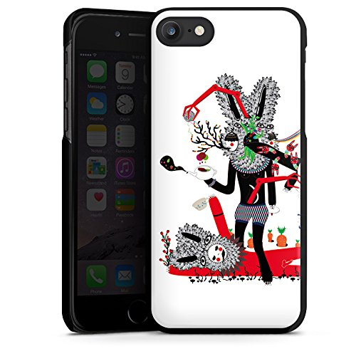 Apple iPhone X Silikon Hülle Case Schutzhülle Abstrakt Maske Collage Hard Case schwarz