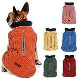 TFENG Reflective Dog Jacket, Dog Coat Warm Padded Puffer Vest Puppy Jacket with Fleece, Orange M