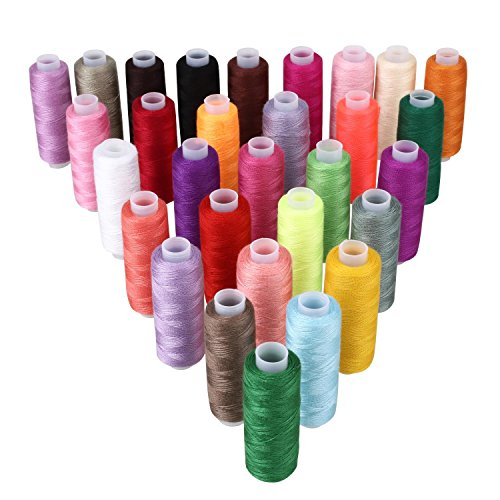 Soledì 30 o 60 Colori Fili Cucito Colorati in Poliestere Strumento per l'Artigianato Fai Da (Strumenti Filo)