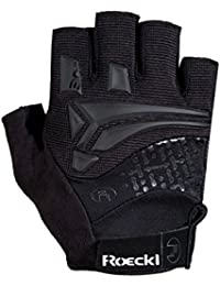 Roeckl Inobe verano guantes de bicicleta dedos cortos negro 2016, tamaño:7 1/2
