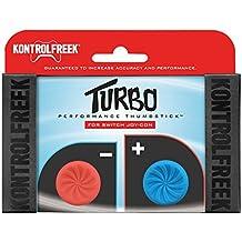 KontrolFreek Turbo Performance Thumbsticks para Nintendo Switch Joy-Con (Rojo/Azul)