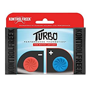 KontrolFreek Turbo Performance Thumbsticks für Nintendo Switch Joy-Con (Rot/Blau)