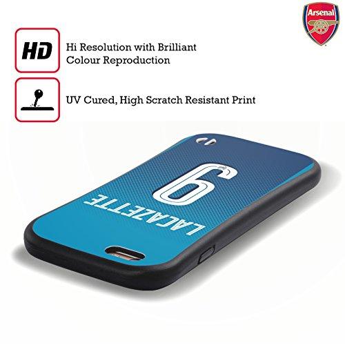 Ufficiale Arsenal FC Sead Kola?inac 2017/18 Giocatori Away Kit Gruppo 2 Case Ibrida per Apple iPhone 5 / 5s / SE Alexandre Lacazette