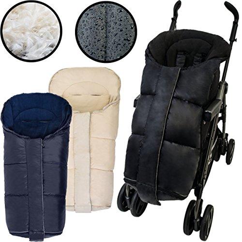 DAUNEN Winterfußsack Fußsack für Kinderwagen/Buggy /Jogger mit (ABS Rückseite) 12-36m Kinder (BEIGE)