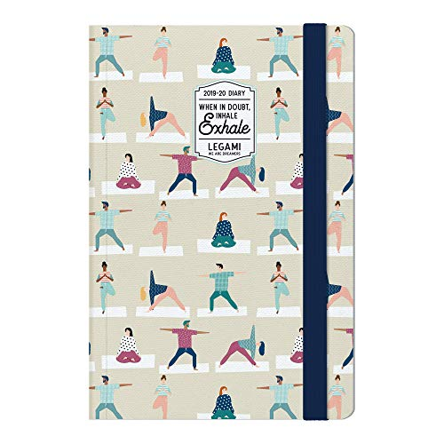 Medium  photo weekly diary with notebook 18 mesi 2019/2020 - yoga lover
