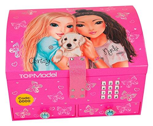 Depesche 8764 - Schmuckkästchen Top Model mit Code und Sound, Pink