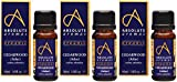 (3 PACK) - Absolute Aromas - Organic Cedarwood Atlas Oil | 10ml | 3 PACK BUNDLE