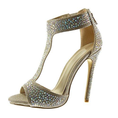 5667cbb85d00 5 Talon Strass 12 Aiguille Salomés Bottine Haut Cm Mode Sandale Chaussure  Sexy Stiletto Femme Brillant ...