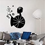 Vinyle bricolage japonais femelle Zen geisha Art Sticker Mural Décoration de la...
