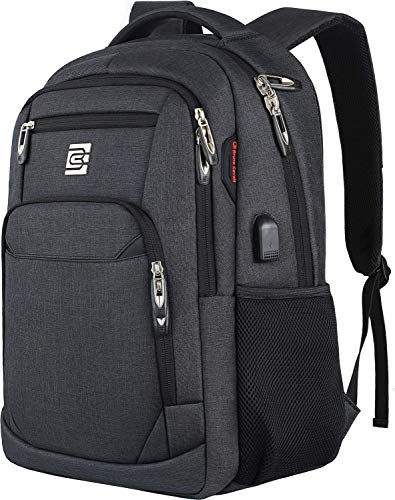 HASAGEI Zaino Uomo Zaino PC 15.6 Pollici Zaino per Laptop con Porta USB Ufficio Scuola Viaggio Impermeabile