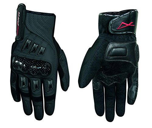 A-Pro Leather Professional Gloves Motorcycle knuckles Protection Motorbike Black L
