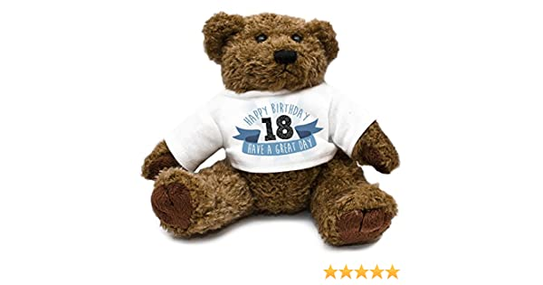 Happy 18th Birthday Teddy Bear Blue 029: Amazon.co.uk: Toys & Games