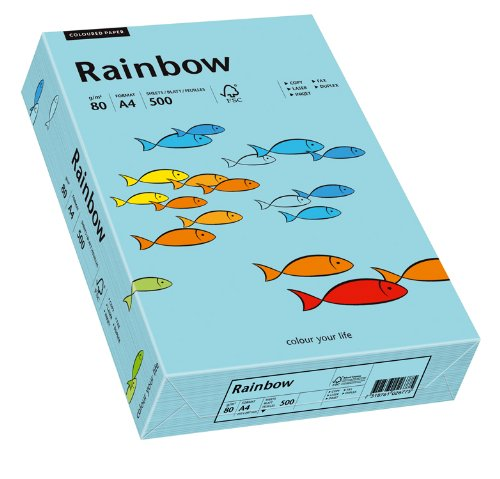Papyrus 88042717 Druckerpapier Rainbow 80 g/m², A4 500 Blatt mittelblau