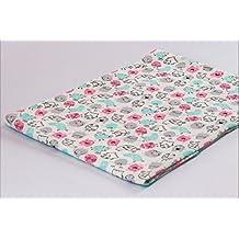 Tejido de jersey estampado por metros |Diseño: Rosa monstruo/azul bebé|50cm x 80cm|92% algodón, 8% elastán|Varios diseños para elegir|Jersey|1buy3