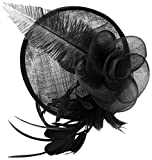 Fascigirl Feather Fascinator Headband Tea Party Derby Pillbox Hat Hair Bridal Hairband