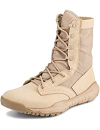 PANY Hombre Botas Militares Botas de Combate ultraligeras y Transpirables Zapatos al Aire Libre Botas tácticas del…