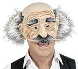 WIDMANN 2056–Maske Alte ohne Kinn, braun, Einheitsgröße