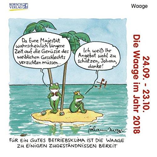 Waage Mini 2018: Sternzeichen-Cartoonkalender, Buch